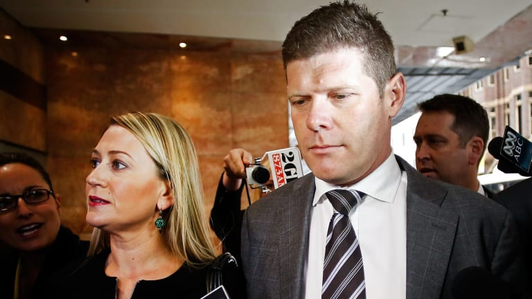 Bribe admission: Andrew Cornwell and his wife Samantha Brookes arrive at the corruption inquiry.