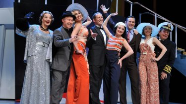 Todd McKenney and Caroline O'Connor (centre) in the Helpmann-nominated Opera Australia/John Frost 2015 production of <i>Anything Goes</i>.