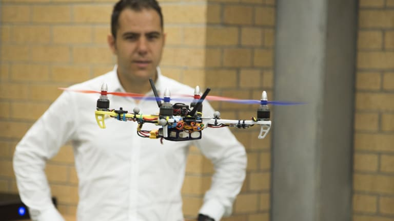 Ilche Vojdanoski has teamed up with Newcastle University's Chris Renton  to form a start-up company called HiveAUV to develop drone technology.