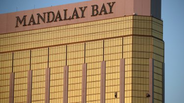 The hotel where Paddock fired on his victims.