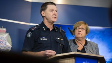 Acting Chief Commissioner Shane Patton speaks to the media about African youth crime.