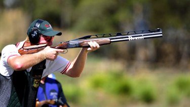 Double Trap competitor James Willett of Mulwala in NSW.