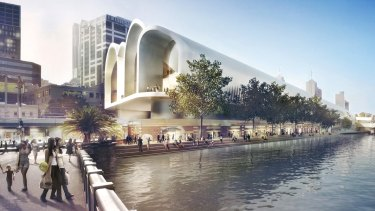 An artist's impression of the winning design for a revamp of the station, which now appears to have been shelved.
