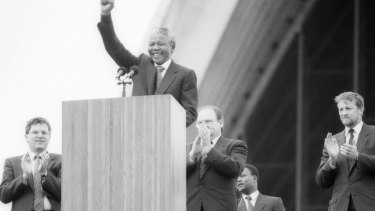 Nelson Mandela at Sydney Opera House, 1990