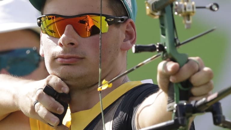 Australian archer Alec Potts, on his way to winning a bronze medal in Rio on Saturday.
