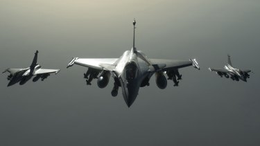 French Rafale fighter jets have been deployed to Syria, where France has attacked Islamic State targets in Raqqa.