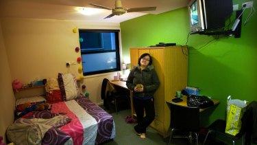 Josephine Lee in an 11.2-square-metre Flinders Street studio apartment.