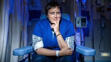 Caroline Hangay has a rare blood cancer.