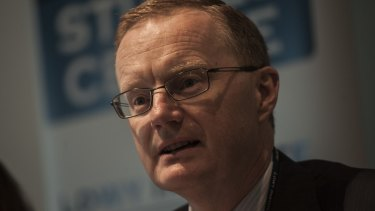 Reserve Bank Governor Phillip Lowe has pointed the finger at business for the lack of wage growth.