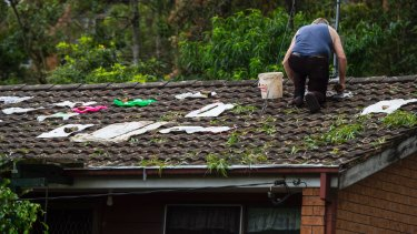 Many homes in Berowra Heights sustained damage when a hail storm impacted the area in December 2018.