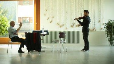 Rami Basisah practises with David Whelton in Switzerland.