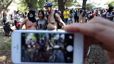 The World Naked Bike Ride Day will start in Collingwood and finish at Parkville.
