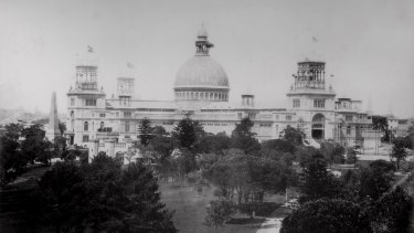 The Garden Palace circa 1879. A Kangaroo Grass meadow will be planted where its dome once stood as part of Jonathan Jones' installation.