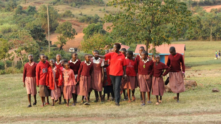 """""""One of the reasons girls' education is becoming more accepted is that girls do come back,"""" says Dr Kakenya Ntaiya."""