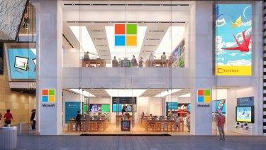 Microsoft's Sydney flagship store.