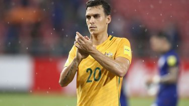 Trent Sainsbury became the first Australian to play for the 109-year-old club.