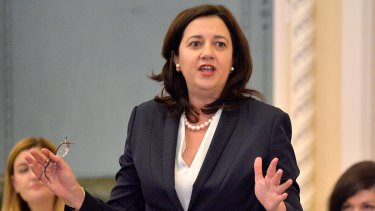 """Premier Annastacia Palaszczuk said $40 million would be spent """"aggressively"""" attracting businesses. But she couldn't say how."""