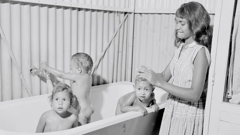Aboriginal wards at Retta Dixon Home in 1958.