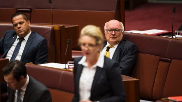 Outgoing Senator George Brandis during Question Time.