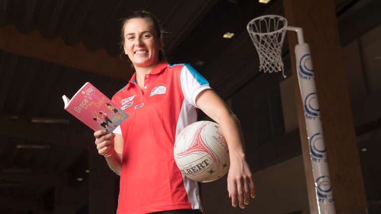 Court case: Maddy Proud has written a children's book based on her teenage netball experience.
