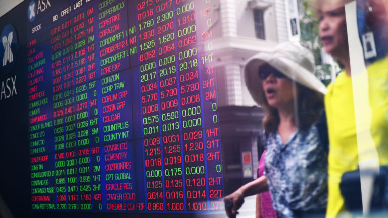 The Australian market is falling in response to sharp declines on Wall Street, which is correcting following a massive ramp-up in prices.
