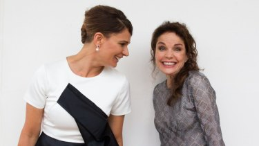 Prison prospects: <i>Wentworth's</i> Danielle Cormack (left) and Sigrid Thornton at the Foxtel launch of their line-up for next year.