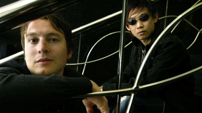 Way back in 2004: Leigh Whannell and James Wan when