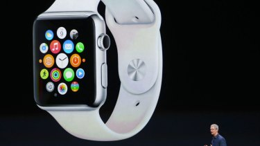 Apple launches the company's first smartwatch.