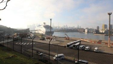 The new White Bay intlernation ship terminal, Balmain, Sydney. The