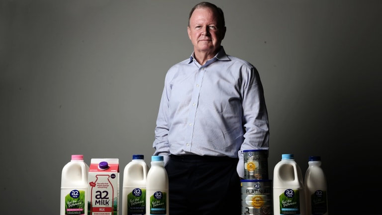"A2 Milk chief executive Geoff  Babidge: ""The opportunity in a variety of segments in adult nutrition could potentially be bigger than infant formula."""