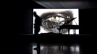 "Douglas Gordon, ""Phantom"", 2011, installed at the MCA as part of the Sydney Biennale."