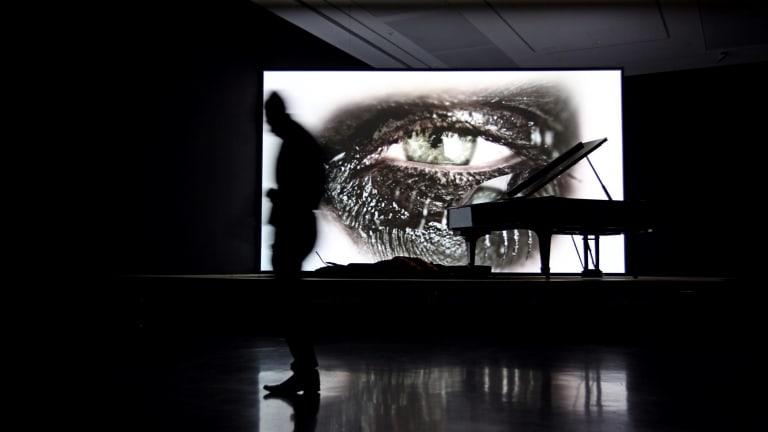 "Douglas Gordon, ""Phantom"", 2011, installed at the MCA as part of the Sydney Biennale."
