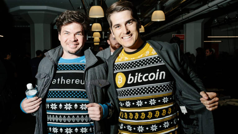 At the annual San Francisco Bitcoin Meetup Party, many wore bitcoin- and Ethereum-themed clothes from Hodlmoon, which sells unisex cryptocurrency sweaters.