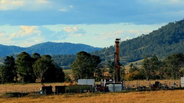 Drilling for gas near Gloucester.