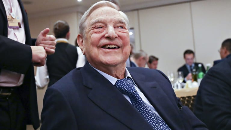 George Soros, billionaire and founder of Soros Fund Management at Davos.