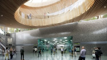 A concept image of one of the new underground stations.