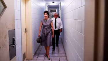 Commissioners Mick Gooda and Margaret White during a tour of Don Dale.
