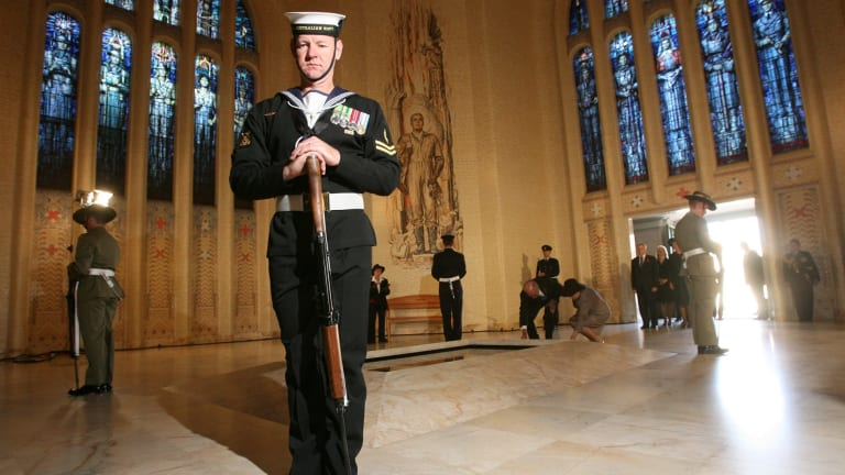 Tomb of the Unknown Soldier at the Australian War Memorial.