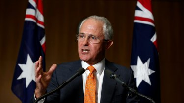 Prime Minister Malcolm Turnbull addresses the media to announce a July 2 election.