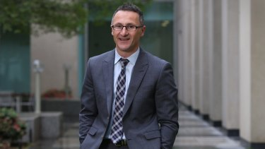 Potential minister in a Labor government? Greens leader Senator Richard Di Natale at Parliament House on Thursday.