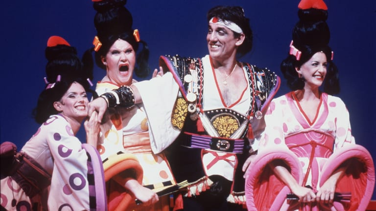 """Jon English during a performance of """"The Mikado"""" at The State Theatre in 1995."""