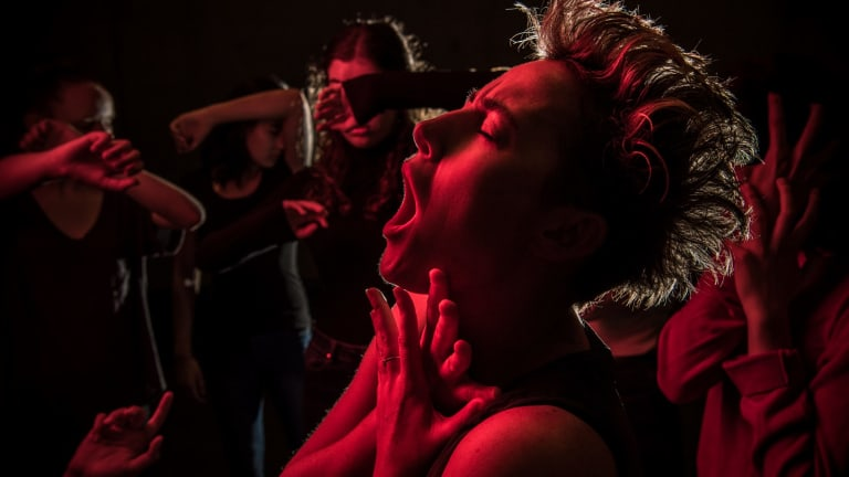 Jane Sheldon, lead performer in The Howling Girls, a new, wordless, work that investigates the effects of mass hysteria in young women.