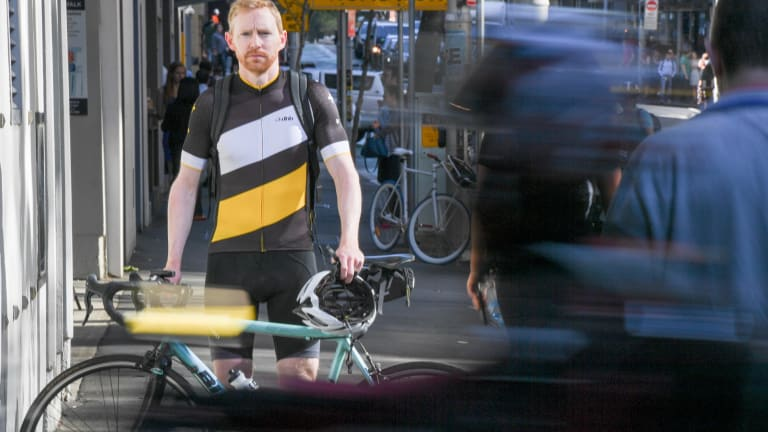 Ben Conan, who continues to ride to work in the city, but who has stopped riding around Manly because of blitzes and fines on cyclists.