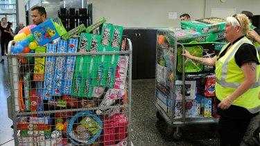 Donated toys for children at John Hunter Hospital.
