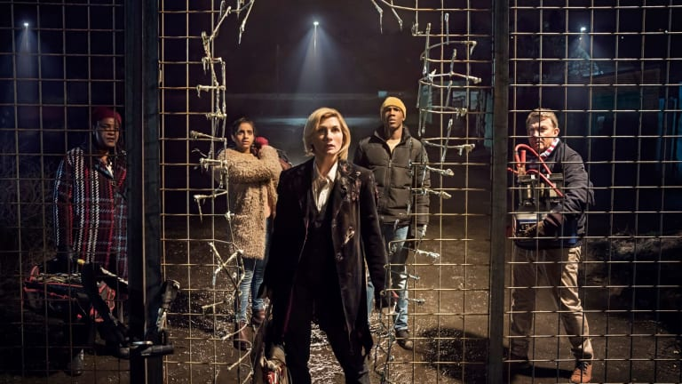 Jodie Whittaker (front) stars as The Doctor  in the rebooted <i>Doctor Who</i>.
