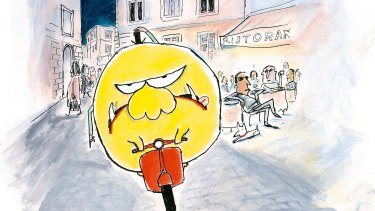 Witty and charming illustrations: <i>Mr Chicken Arriva a Roma</i> by Leigh Hobbs.