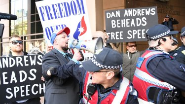 Increasingly vocal intolerance in Australia: far-right group United Patriots Front.