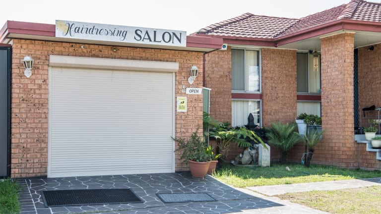 The attacker allegedly chased the victim into the salon and tried to smash his way in