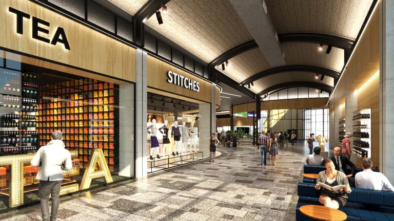 Impression of new Terminal 2, Sydney Airport by Landini Associates.