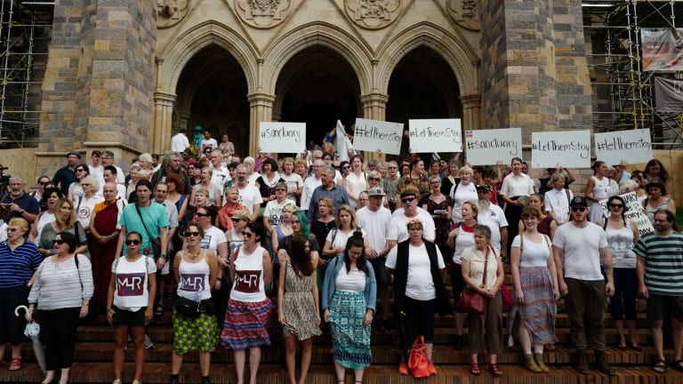 More than 100 people gathered at St John's Cathedral for sanctuary training
